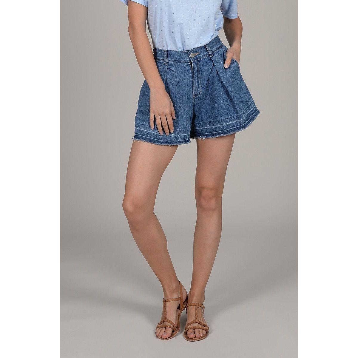Short large en jean