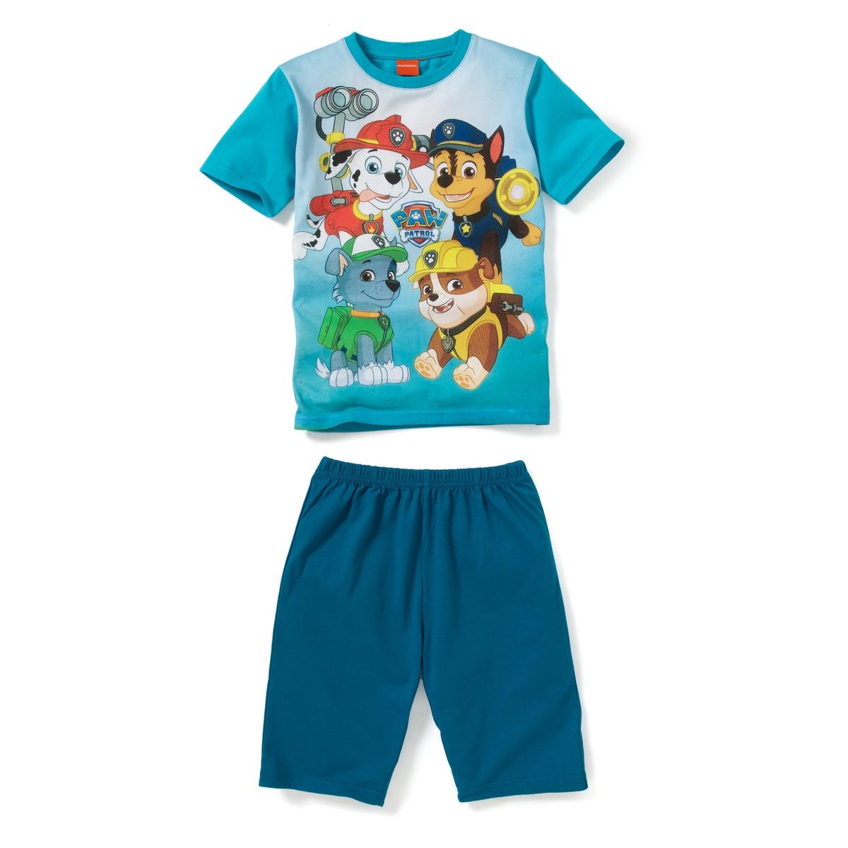 Пижама с шортами с рисунком, 2-8 лет