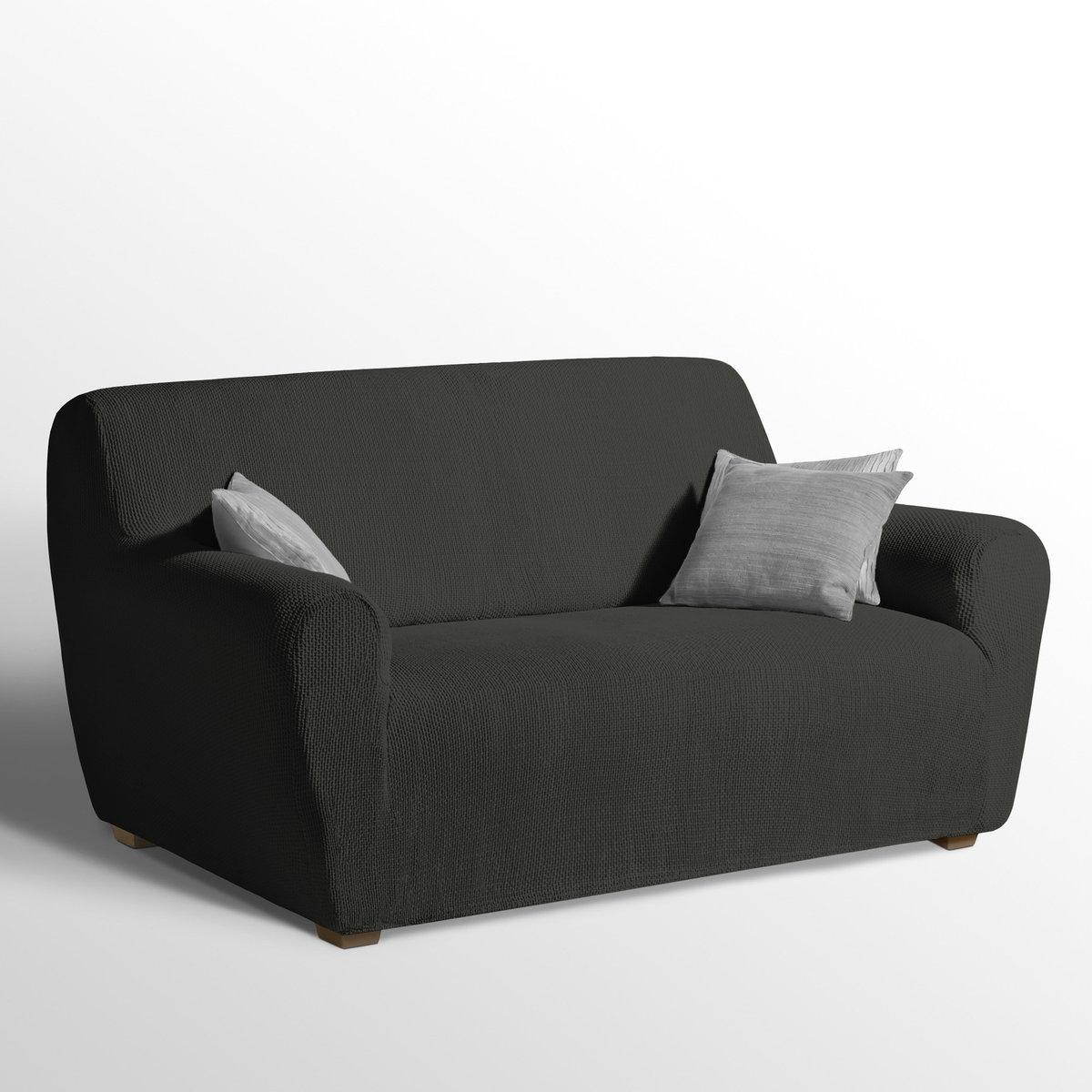 Чехол La Redoute Эластичный для кресла и дивана AHMIS 2 места серый