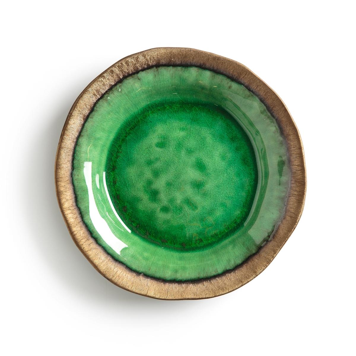 Тарелка La Redoute Десертная из глазурованной керамики Altadill единый размер зеленый