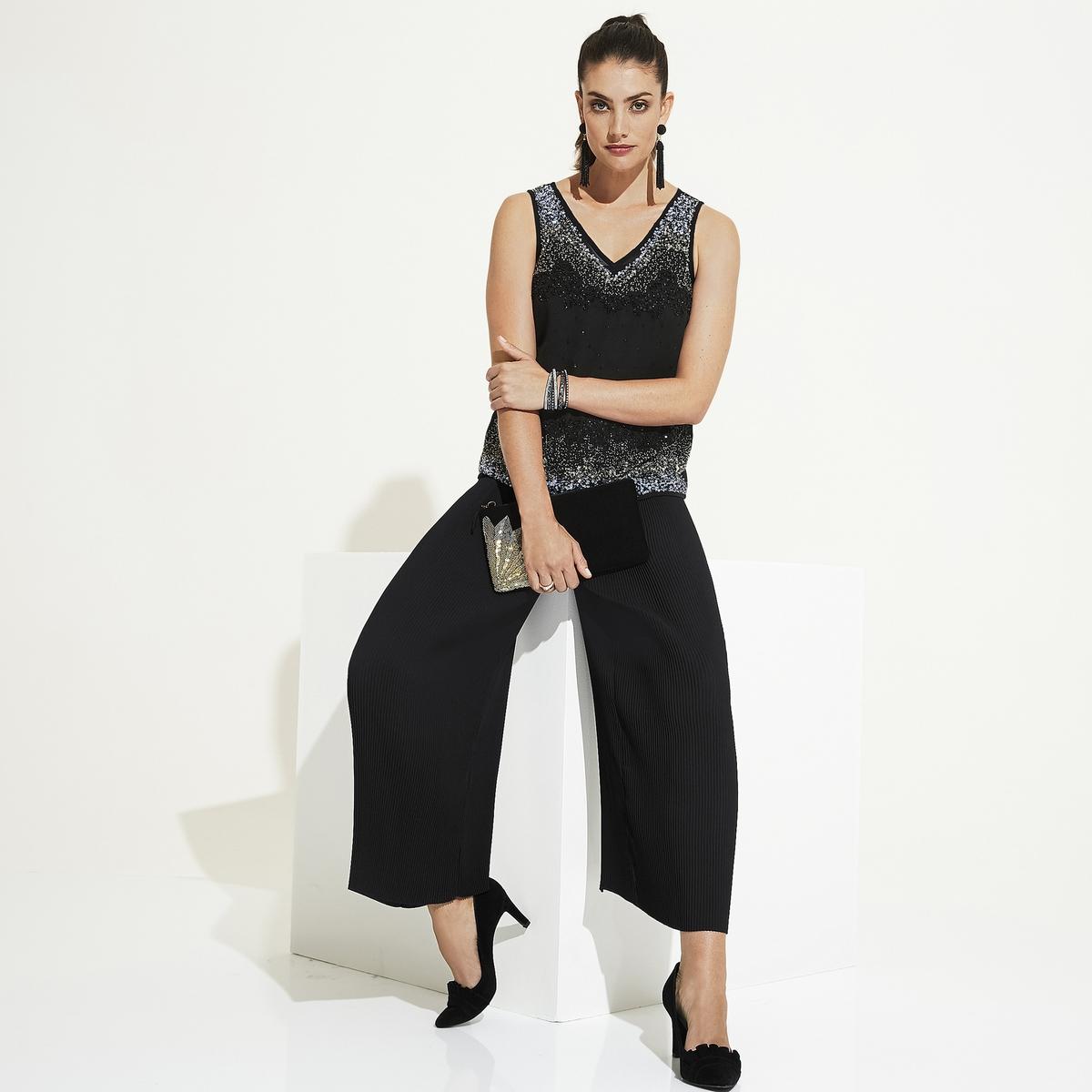 Imagen adicional de producto de Pantalón ancho con plisado permanente - Anne weyburn