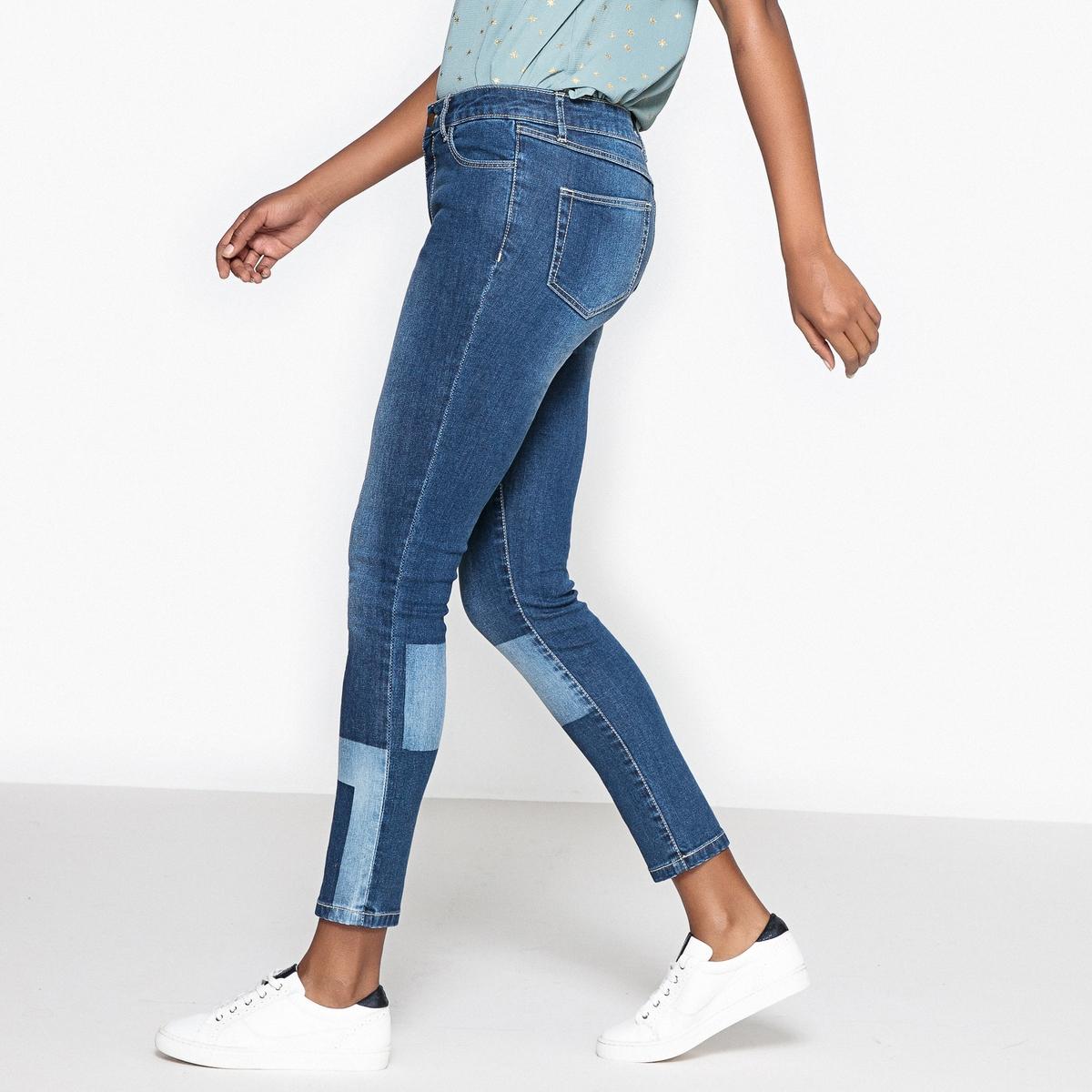 Джинсы-слим с нашивками джинсы слим с тропическим рисунком 3 14 лет