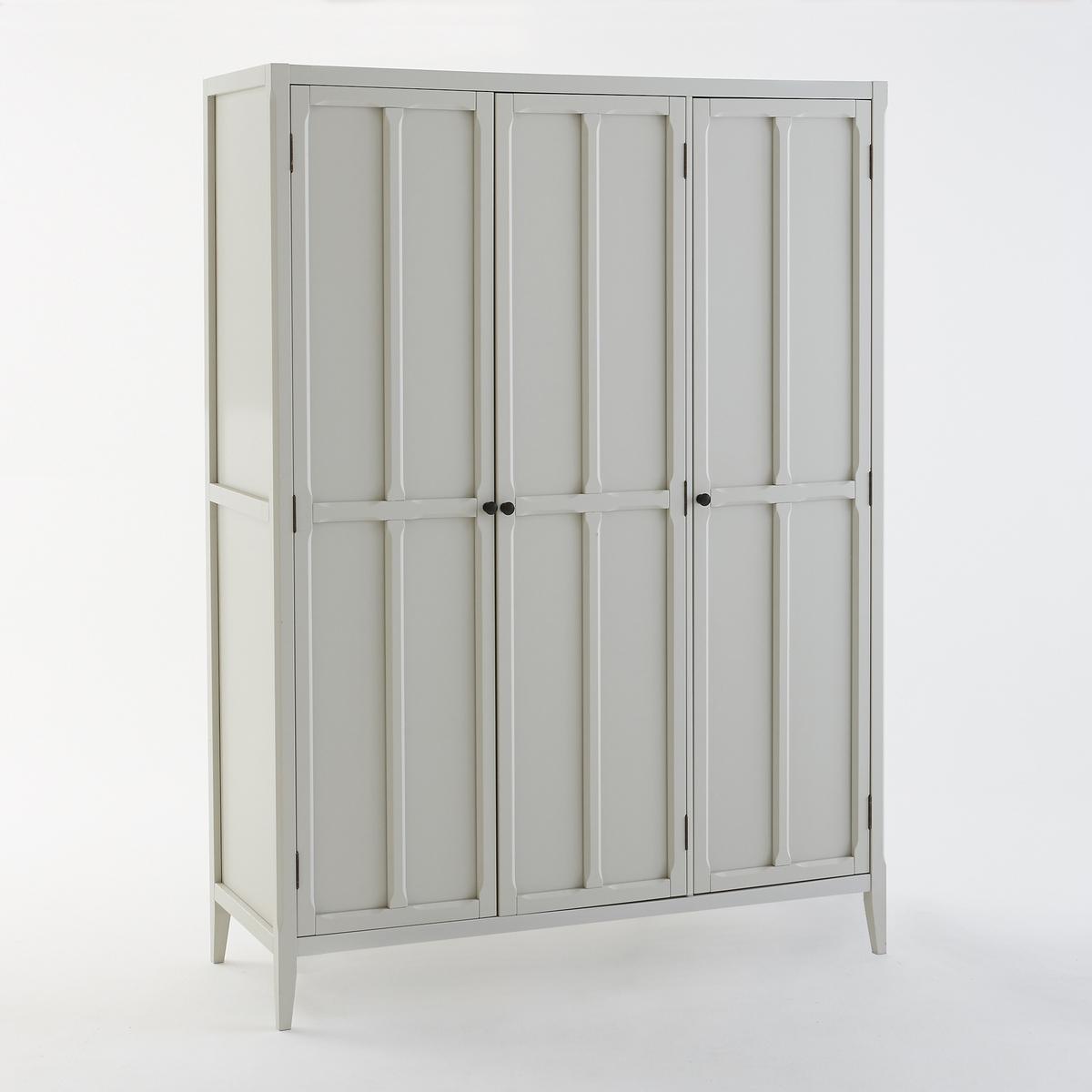 Шкаф LaRedoute С 3 дверцами Eugnie единый размер серый