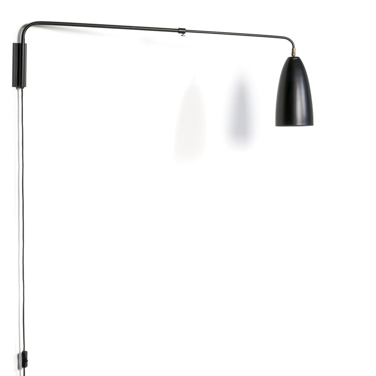 Светильник телескопический GizelХарактеристики : - Регулируемый абажур- Патрон E27 для флюокомпактной лампочки 15W (не входит в комплект).- Кабель с покрытием из черного текстиля.- Совместима с лампочками электрического класса  A. Размеры : - Выс32 x Глубина мин. 1м, глубина макс. 1,50 м .- Абажур : ?14 x Выс25 см<br><br>Цвет: черный