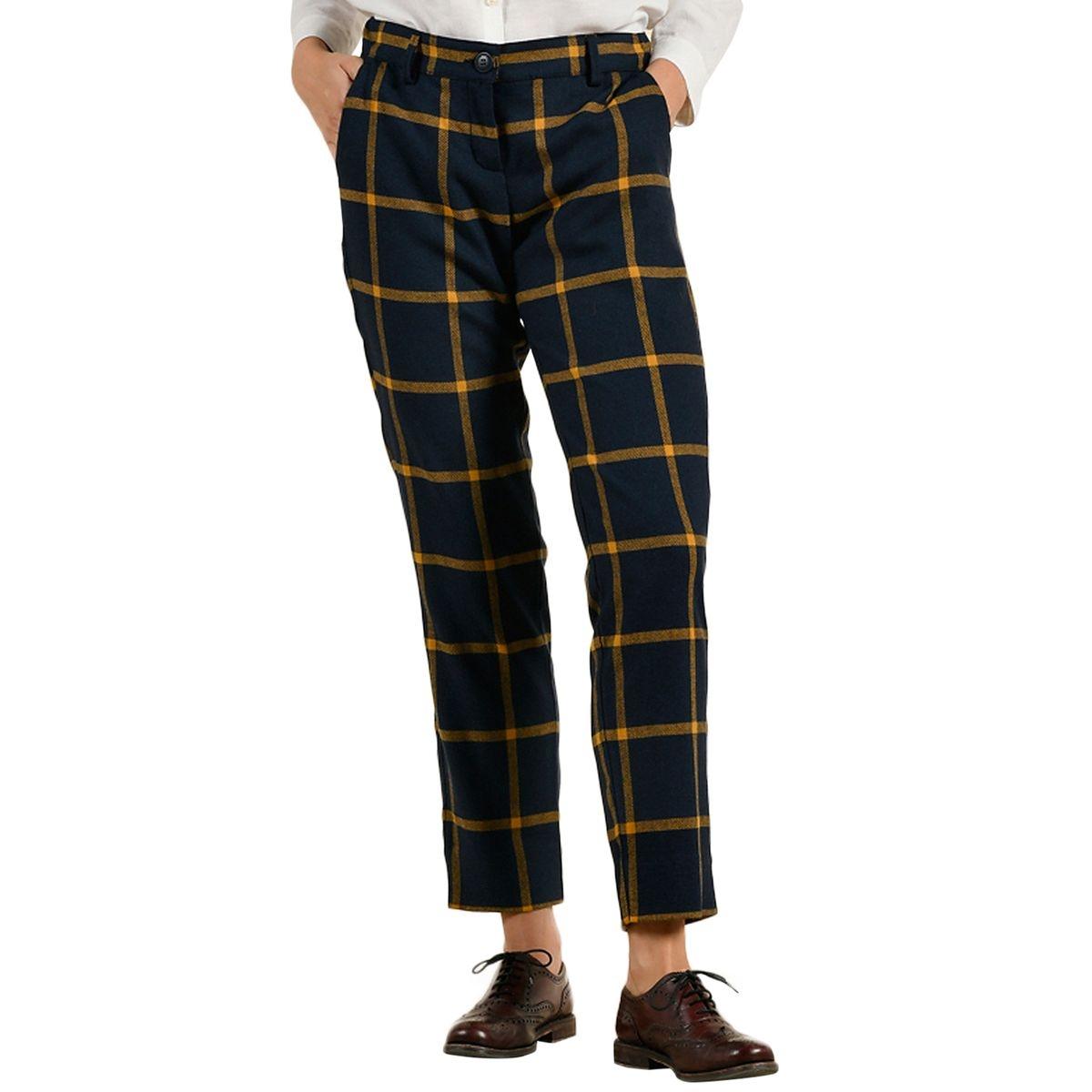 Pantalon grands carreaux en laine