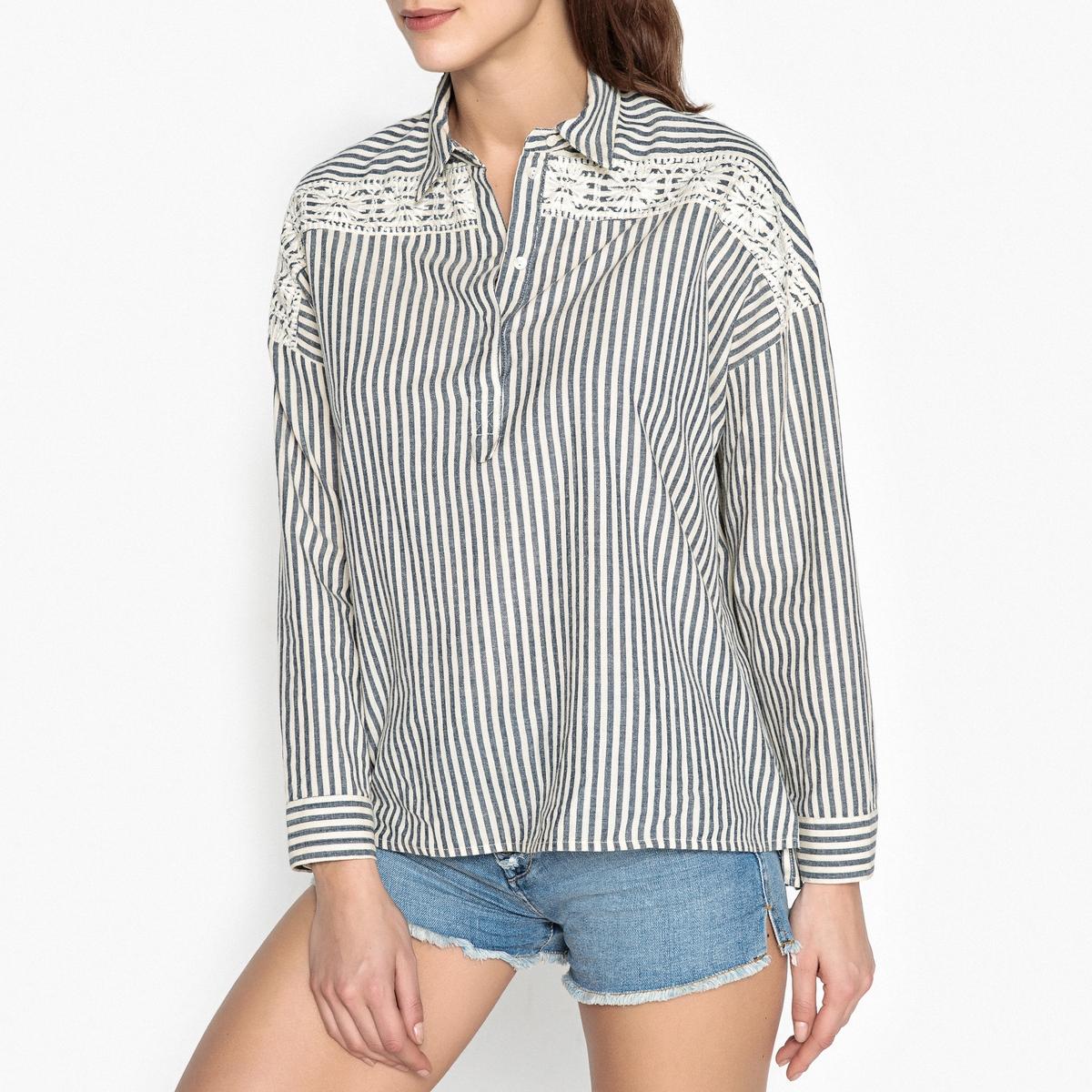 Рубашка в полоску объемного покроя OPHIA от BERENICE