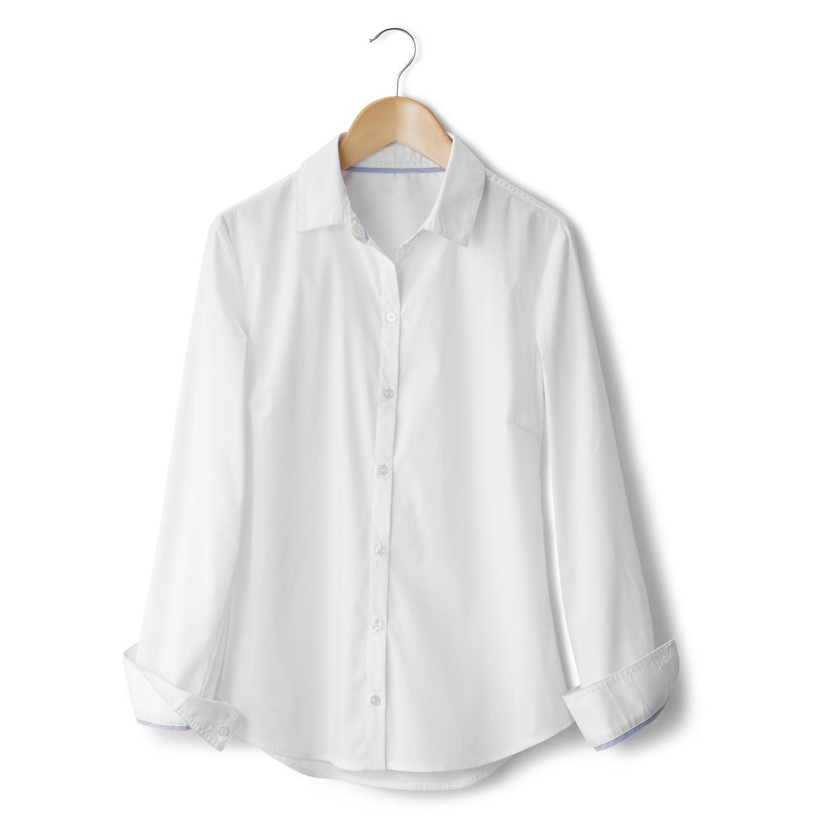 Рубашка однотонная из поплина