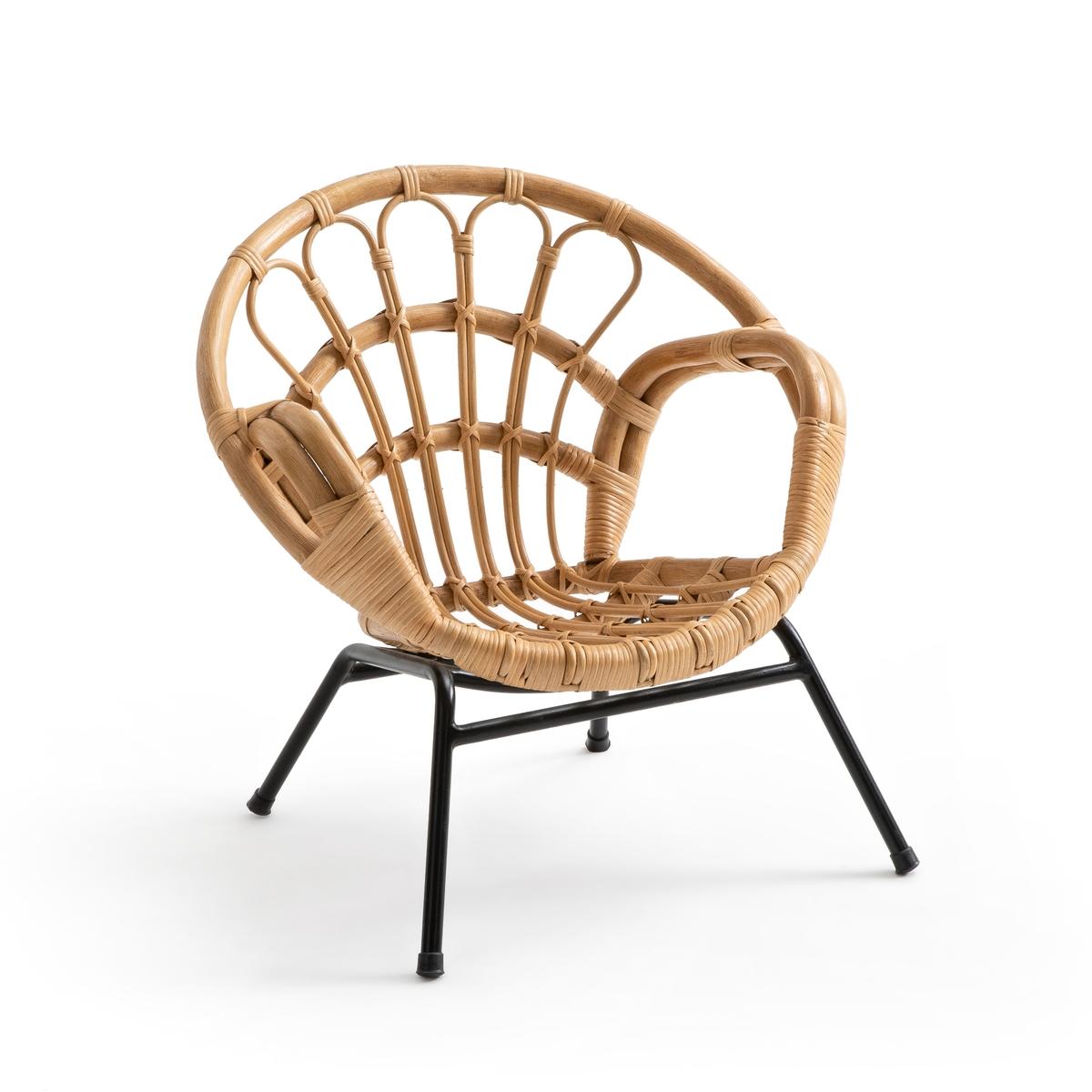 Кресло LaRedoute Детское винтажное из ротанга Malu единый размер бежевый
