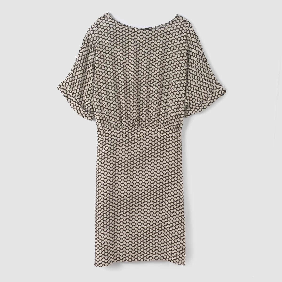 Платье струящееся с принтом JUNLY DRESS платье струящееся с рисунком