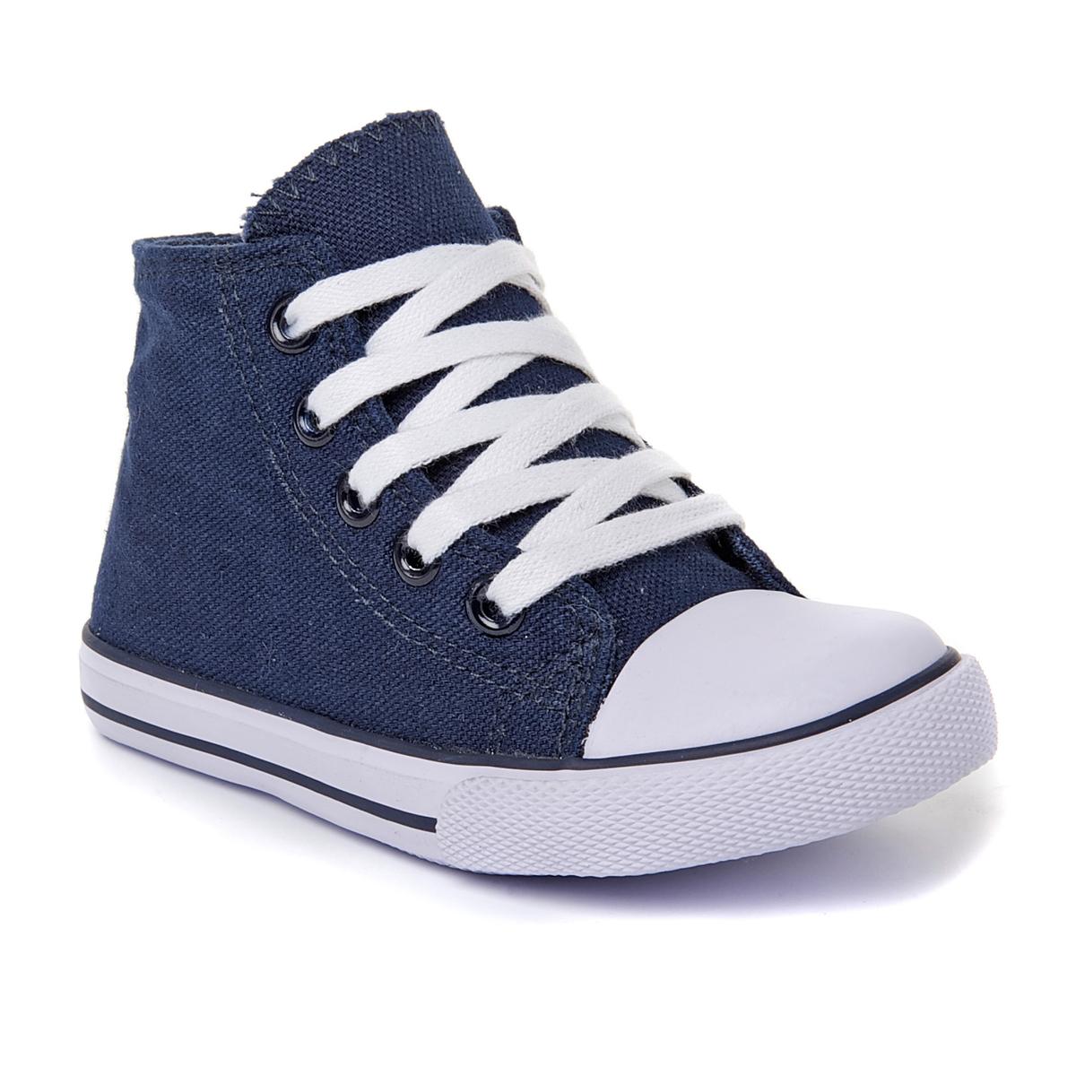 Кеды La Redoute Из ткани на шнуровке и молнии 19 синий