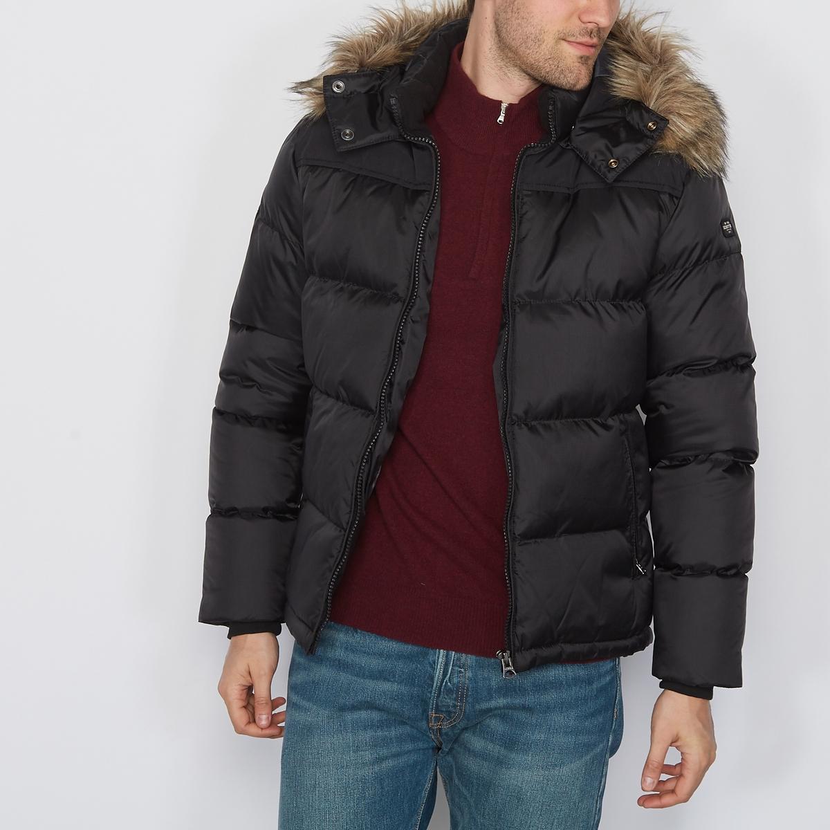 Куртка средней длины с капюшоном