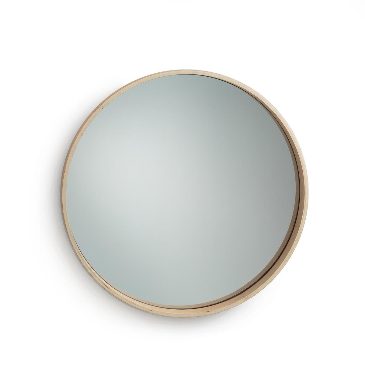 Зеркало круглое с отделкой из дуба, ALARIA