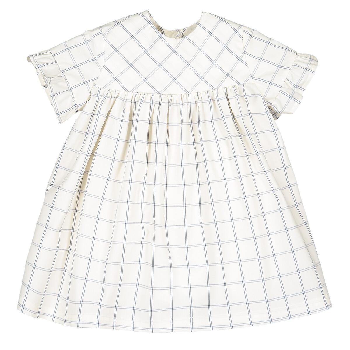 Платье LaRedoute В клетку из шуршащего поплина 3 мес - 4 года 1 год 74 см другие