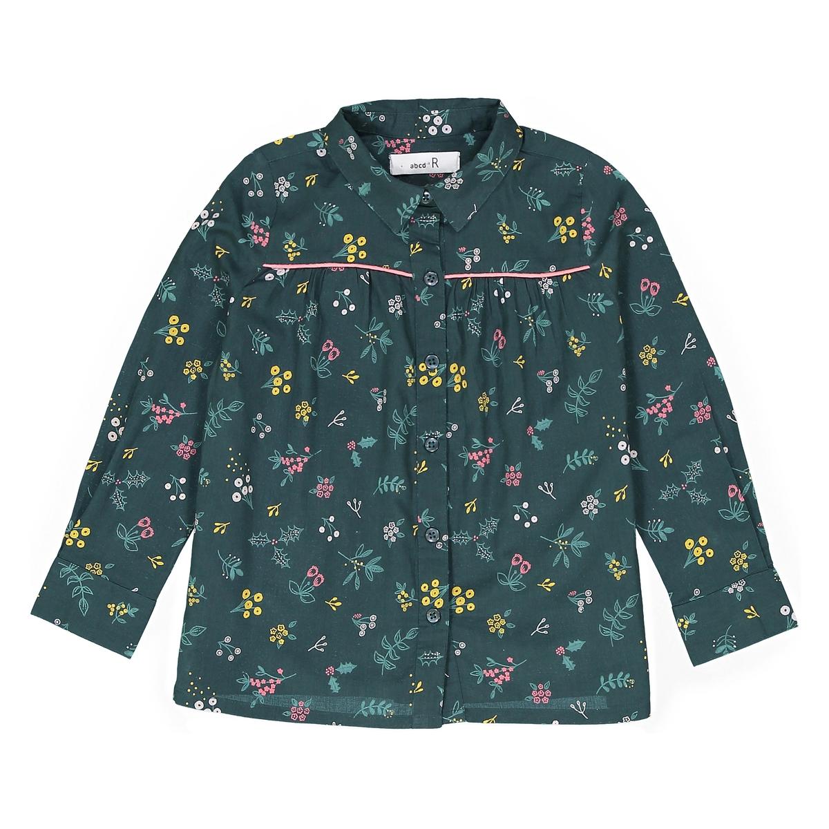 Рубашка с цветочным принтом 3-12 лет