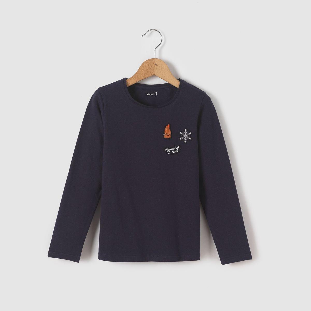 T-shirt manches longues badges d'hiver 3-12 ans