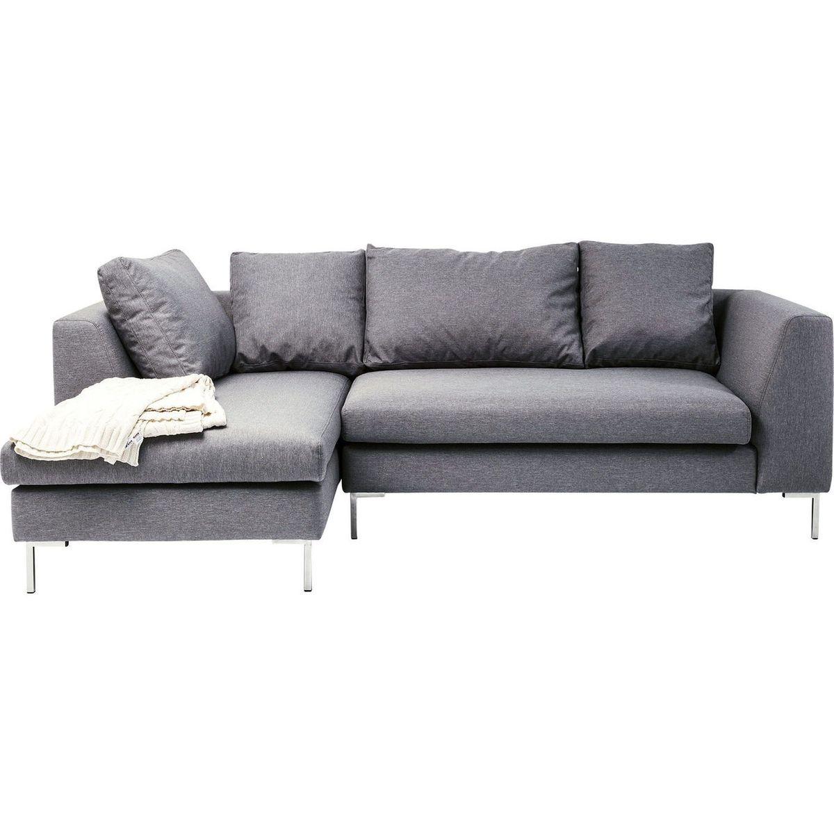 Canapé d'angle Bruno Panini petit gris gauche Kare Design