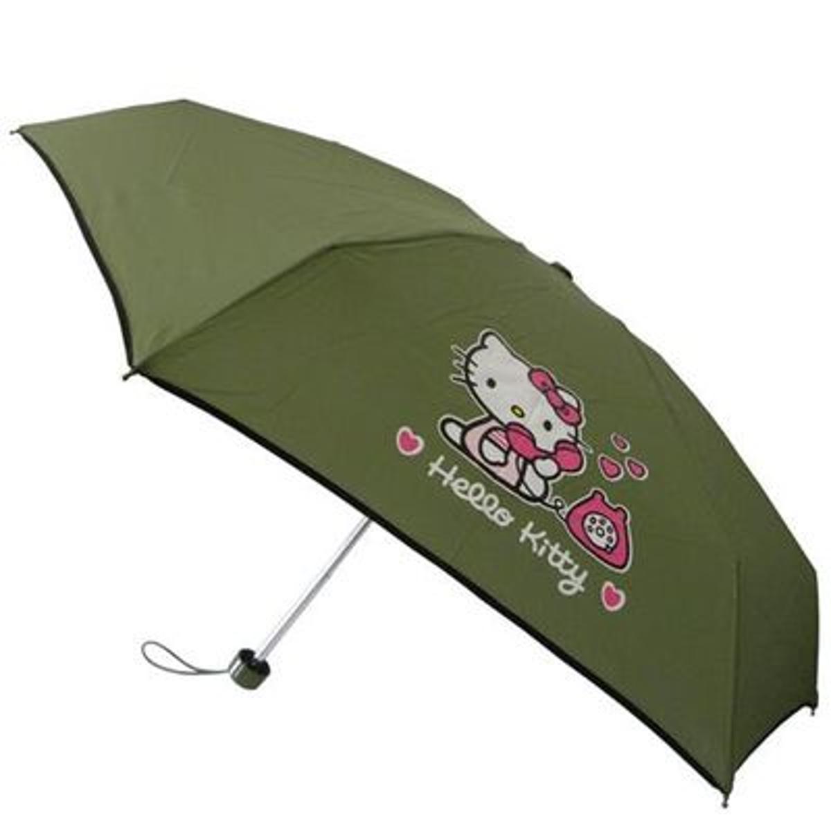 Parapluie Hello Kitty kaki