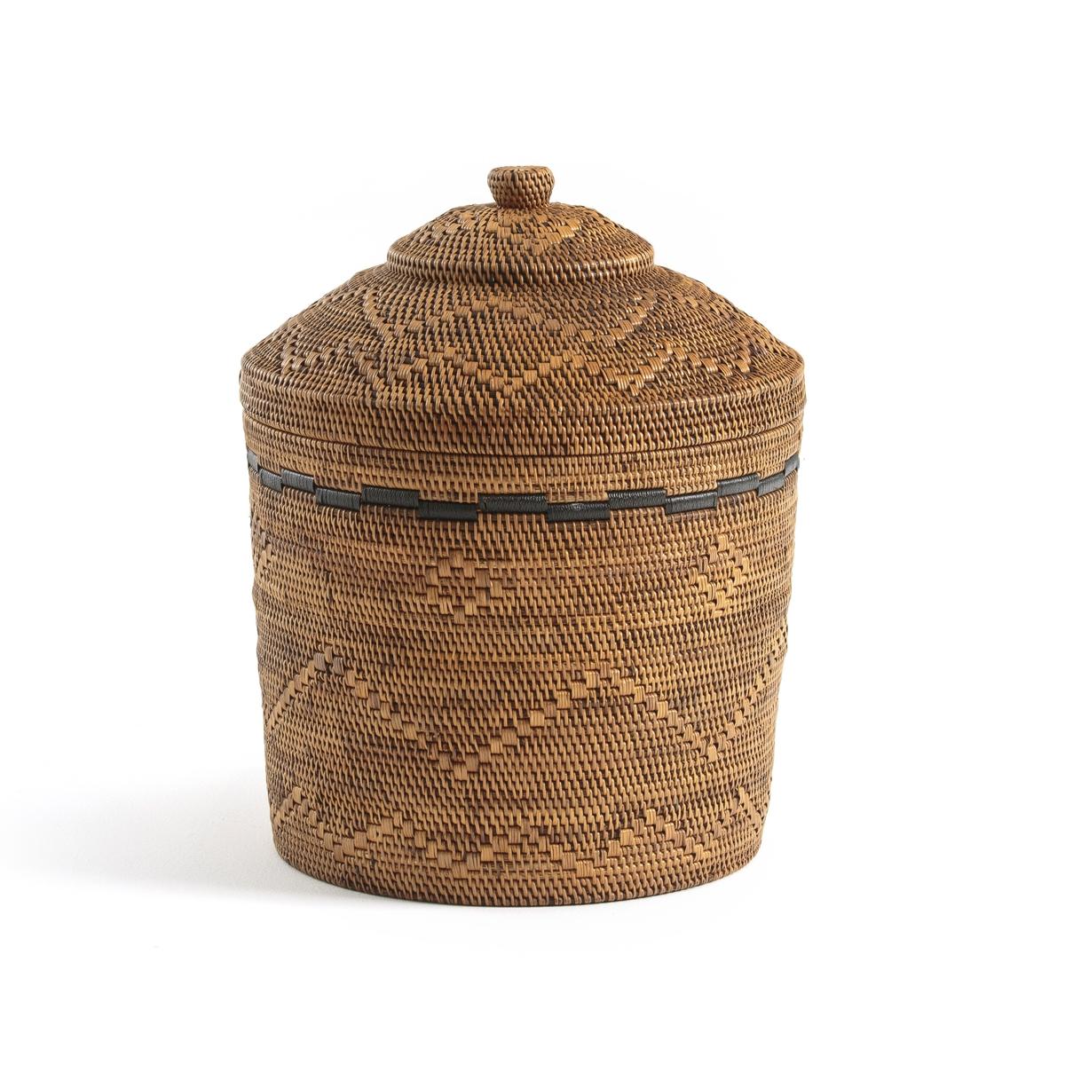 Корзина La Redoute x В см бамбук и плетеный ротанг Brazil единый размер каштановый цена