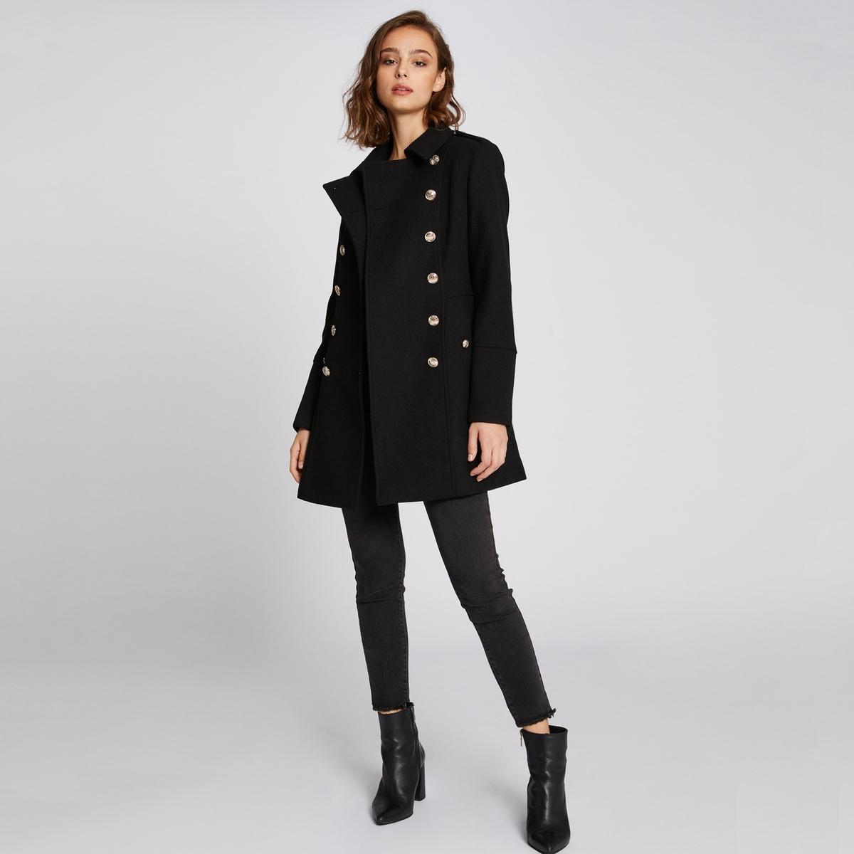 Пальто La Redoute Средней длины 42 (FR) - 48 (RUS) черный жакет блейзер la redoute приталенный средней длины 36 fr 42 rus черный