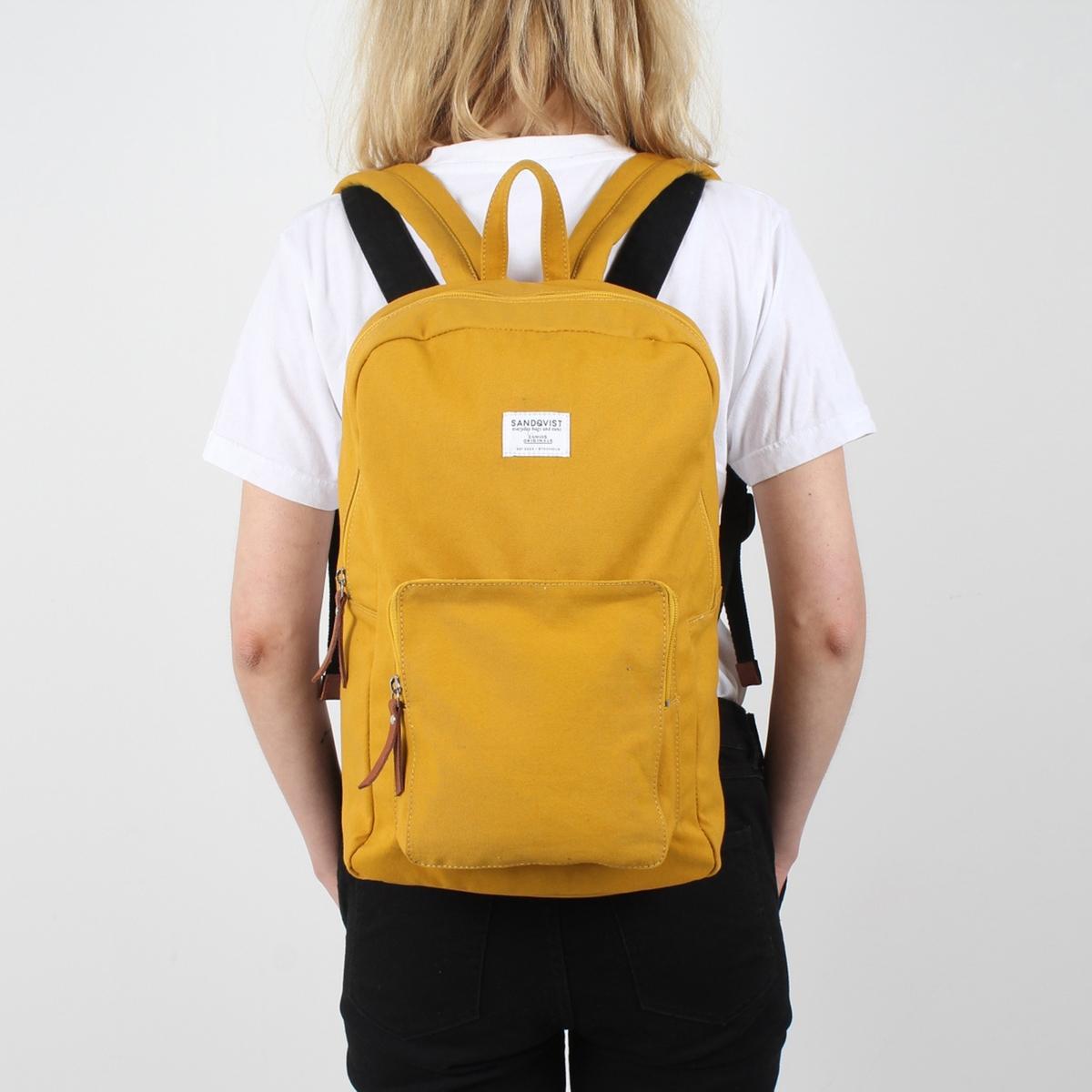 Рюкзак La Redoute KIM л специально для ноутбука дюймов единый размер желтый