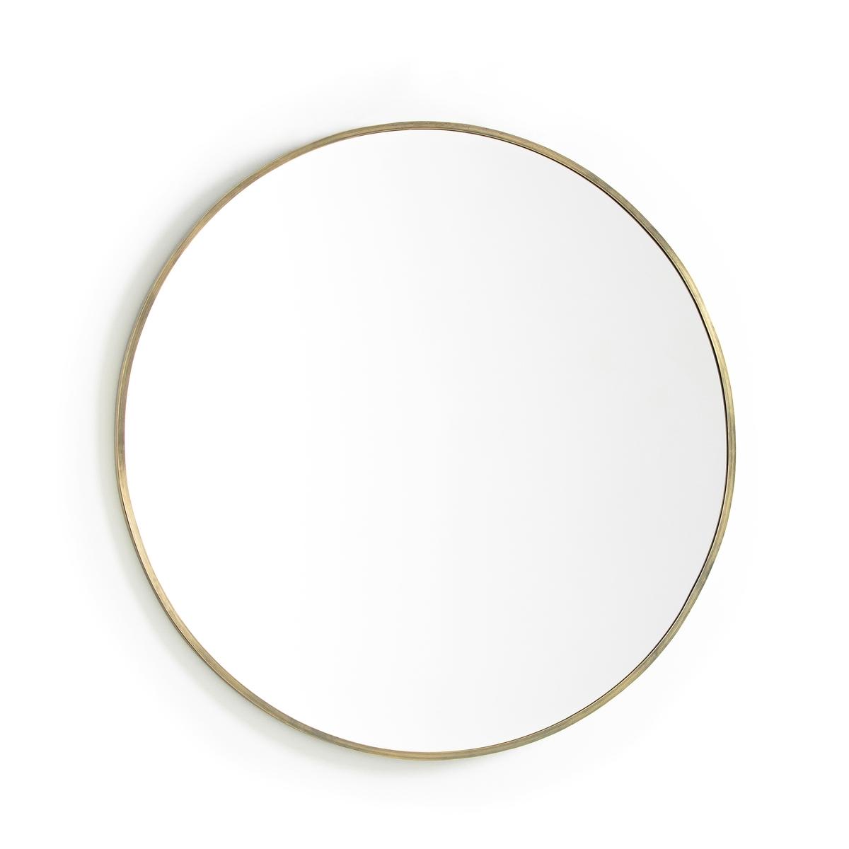 Зеркало, золотистый металл, Ø80 см, Caligone