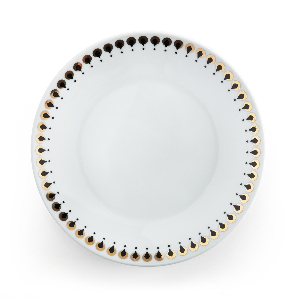 4 десертные тарелки, MELLAHОписание:4 десертные тарелки Mellah . С десертными тарелками Mellah на вашем столе будет царить праздник и изысканная атмосфера .Описание 4 десертных тарелок Mellah :Фарфор с декором .Подходят для посудомоечной машины, не подходят для микроволновой печи  .Размер 1 тарелки Mellah :Диаметр. 19,2 смНайдите всю коллекцию Art de la table Mellah на сайте laredoute .ru.<br><br>Цвет: рисунок + белый