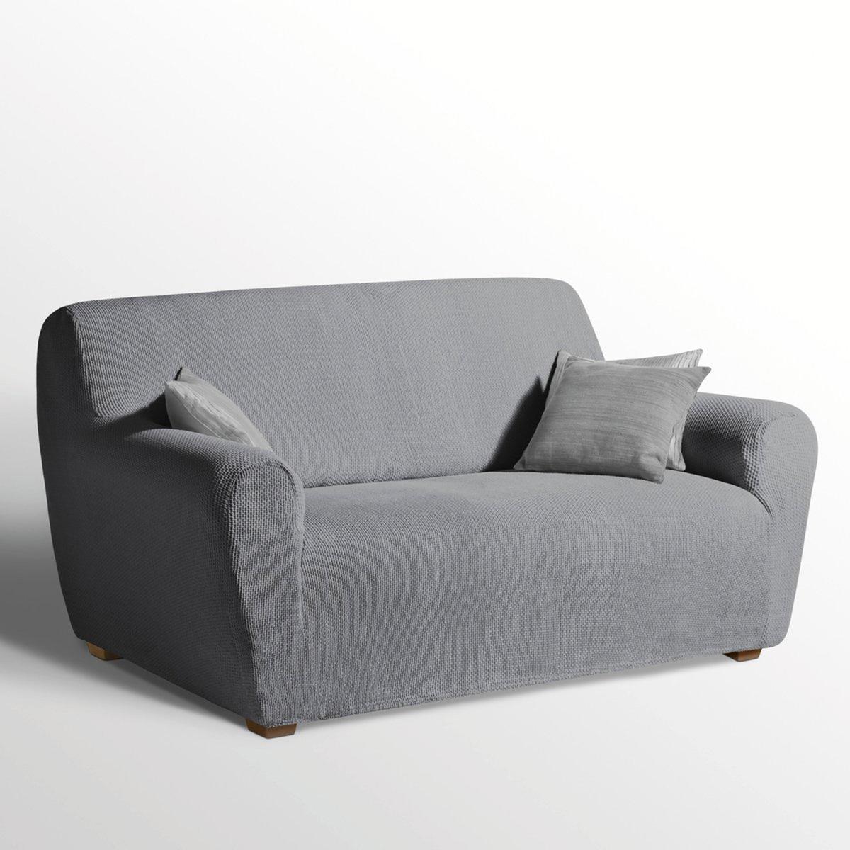 Чехол LaRedoute Эластичный для кресла и дивана AHMIS 1 места серый