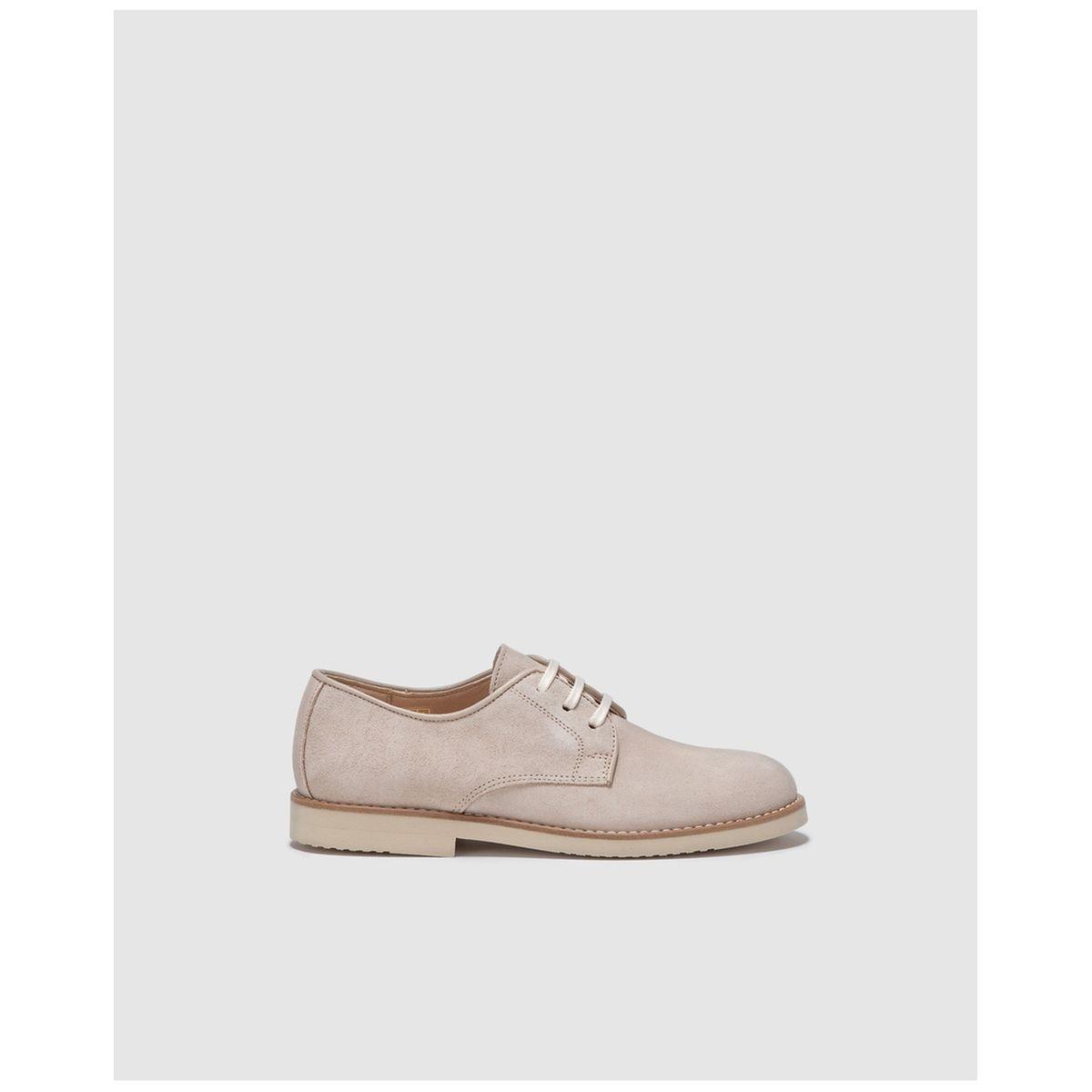 Chaussures à lacets en croûte de cuir