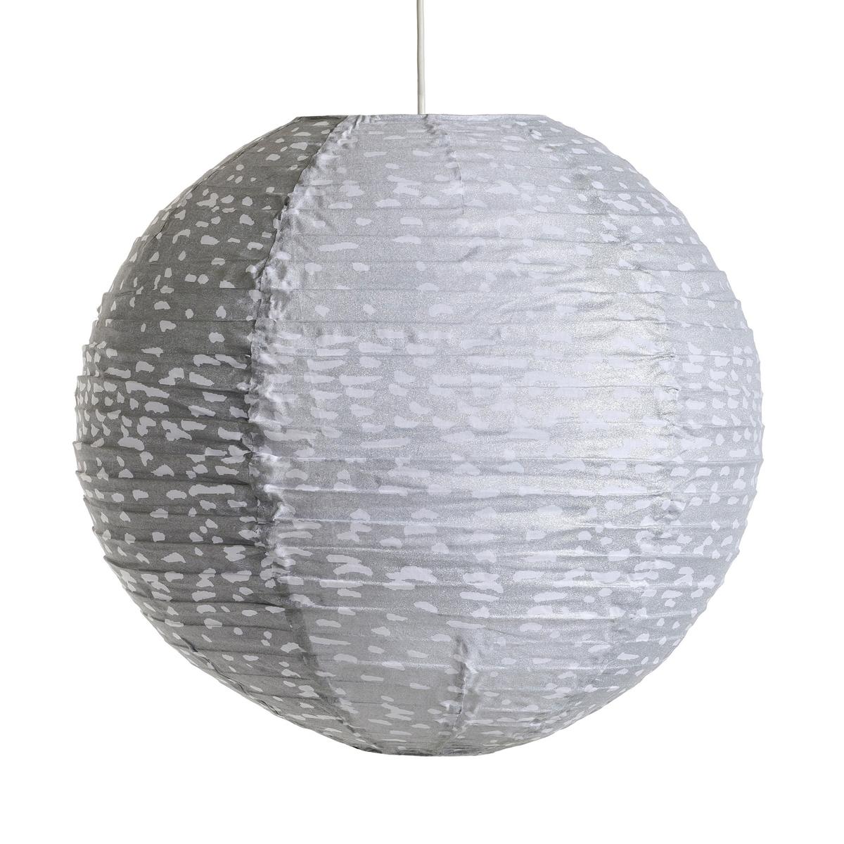 Светильник подвесной круглый Sidy с точечным рисункомХарактеристики :- Каркас из металлических проволок, обтянутый хлопком.- Без проводки . Размеры :- Размер. ?.50 см.<br><br>Цвет: серый/ белый