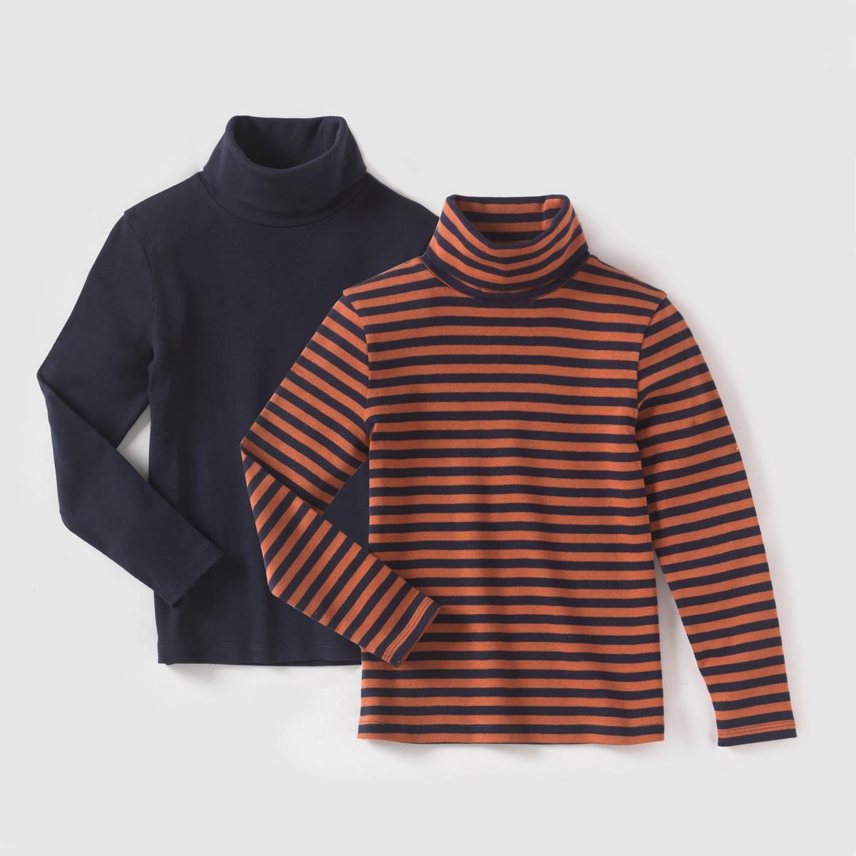 Комплект из 2 тонких пуловеров с длинными рукавами, 3-12 лет