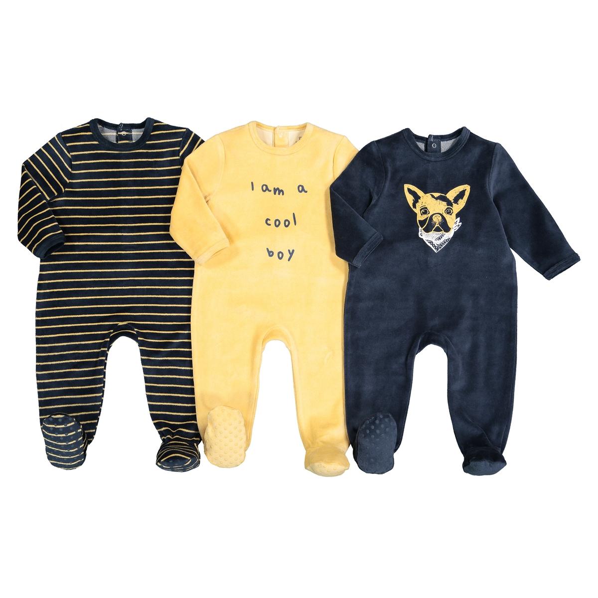 Набор La Redoute Из пижам месяцев- года 1 мес. - 54 см желтый комплект из 2 пижам с рисунком лама из хлопка 0 мес 3 года