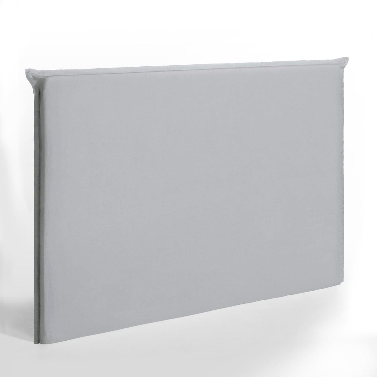 Чехол LaRedoute Для изголовья кровати высотой 135 см из стираного льна Sandor 140 см серый