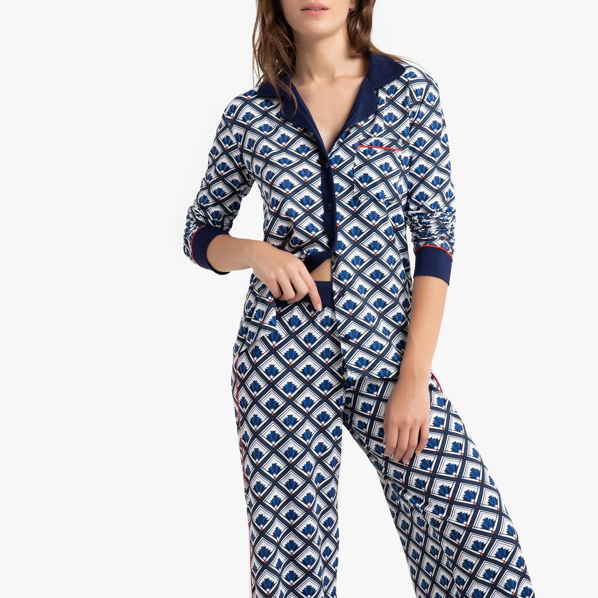 Пижама La Redoute Tie Design L синий