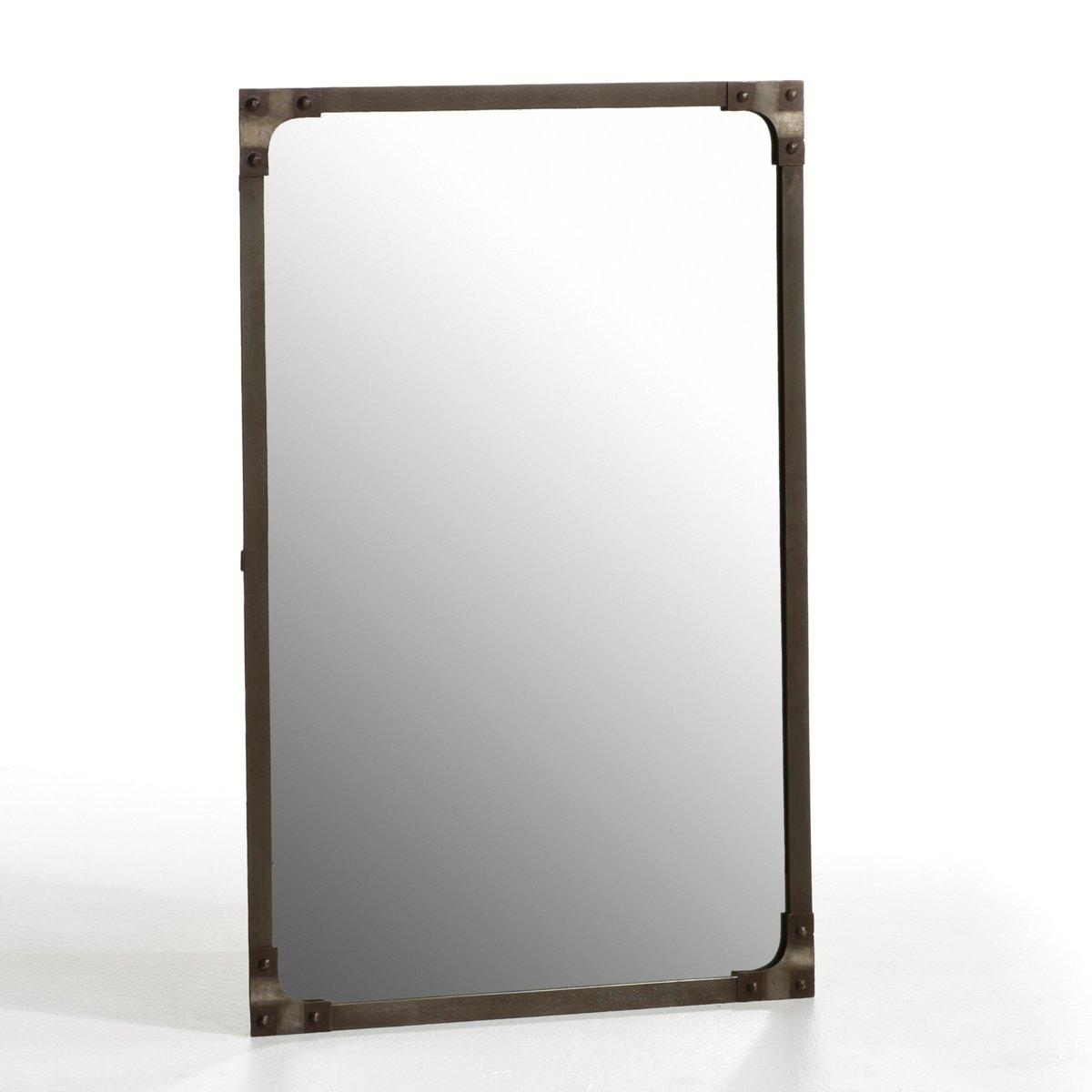 Зеркало, LenaigОписание:- Заклепки на 4 углах.- Крепится горизонтально или вертикально (шурупы и дюбеля не прилагаются).Характеристики:- Металл черного цвета с отделкой под старину.Откройте для себя всю коллекцию зеркал на сайте laredoute.ru.Размеры:Общие: - Длина: 60 см.- Высота: 90 см.Зеркало: Шир. 57 x Выс. 86 смРазмеры и вес упаковки:1 упаковкаШир. 100 x Выс. 5 x Гл. 65 смВес: 9,1 кг.<br><br>Цвет: красно-коричневый