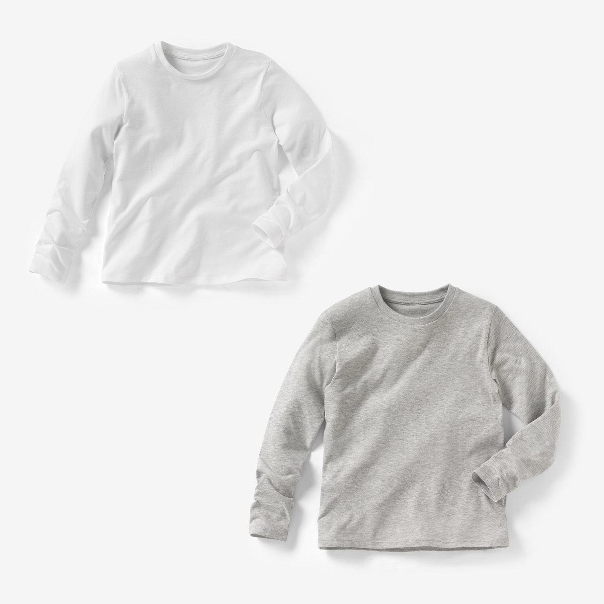 Комплект из 2 футболок, 3-12 летОписание:Детали •  Длинные рукава •  Круглый вырезСостав и уход •  100% хлопок •  Температура стирки 40°   •  Сухая чистка и отбеливание запрещены •  Барабанная сушка на деликатном режиме • Средняя температура глажки.<br><br>Цвет: красный + темно-синий,серый меланж + белый,черный + серый меланж<br>Размер: 8 лет - 126 см.8 лет - 126 см.12 лет -150 см.18 мес. - 81 см.2 года - 86 см.8 лет - 126 см.6 лет - 114 см.6 лет - 114 см.5 лет - 108 см.5 лет - 108 см.10 лет - 138 см