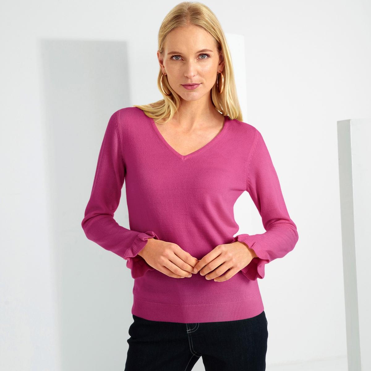 Imagen principal de producto de Jersey con cuello de pico, tacto cachemir - Anne weyburn