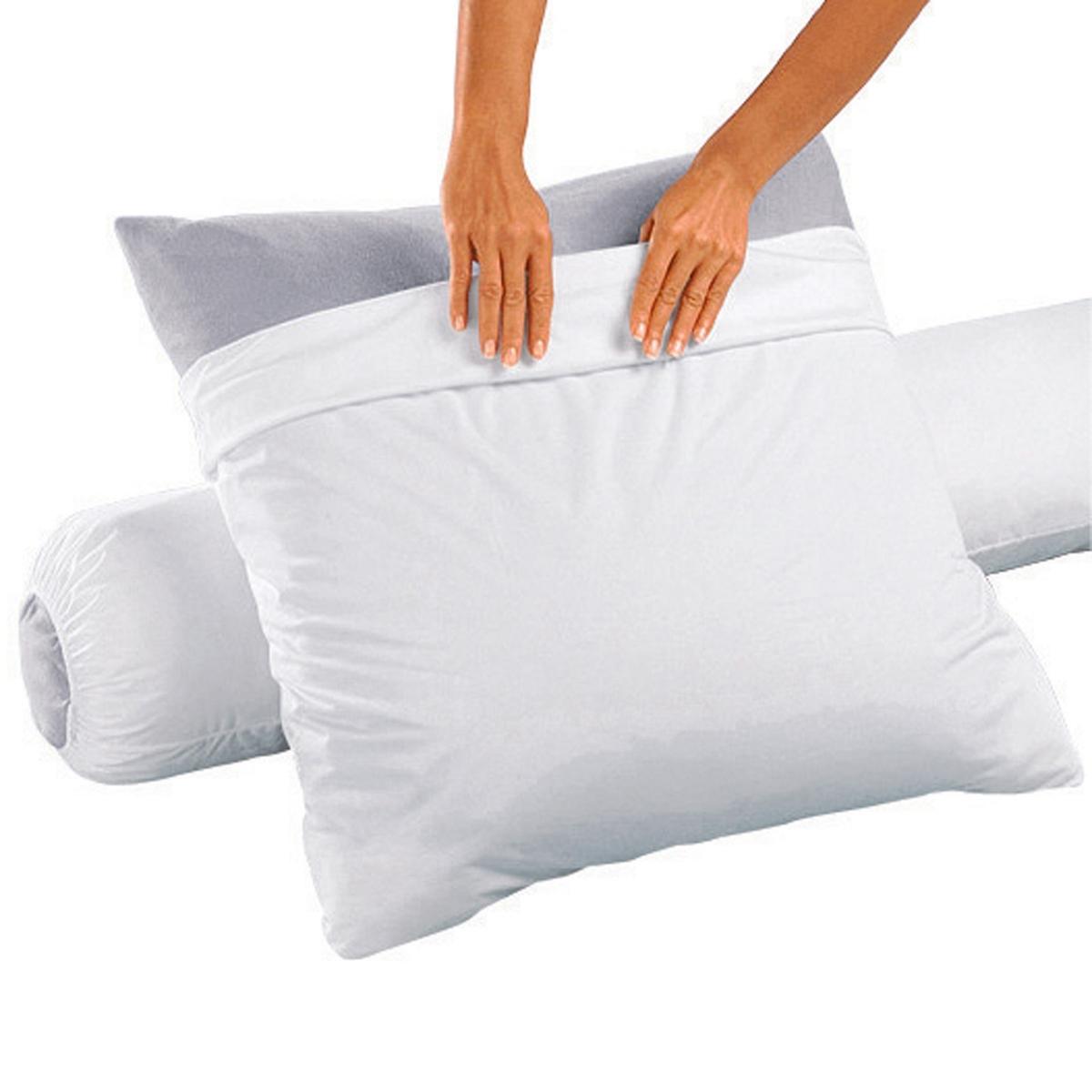 Защитная непромокаемая наволочка на подушку-валик