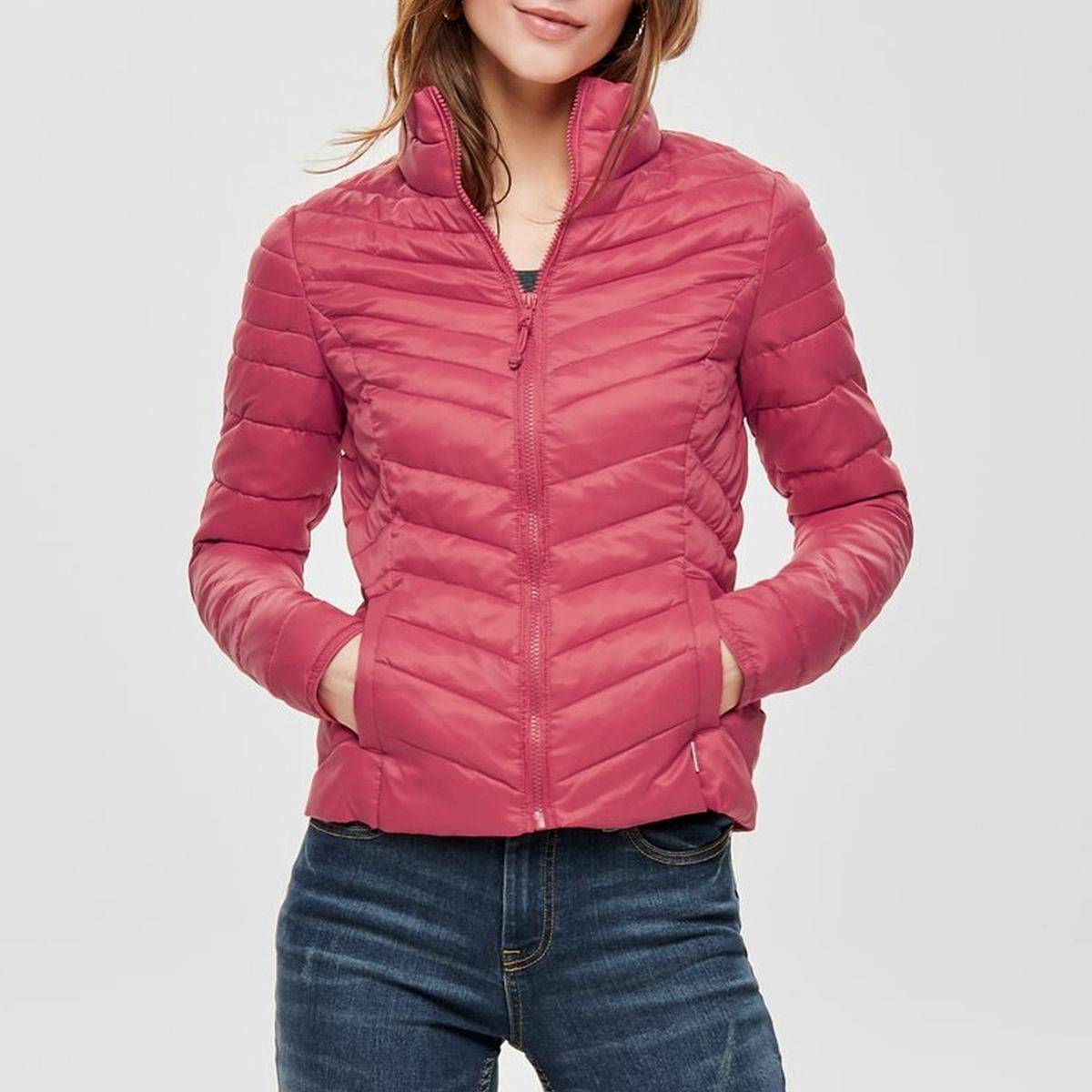 Куртка La Redoute Стеганая короткая с застежкой на молнию XL розовый свитшот la redoute la redoute xl розовый