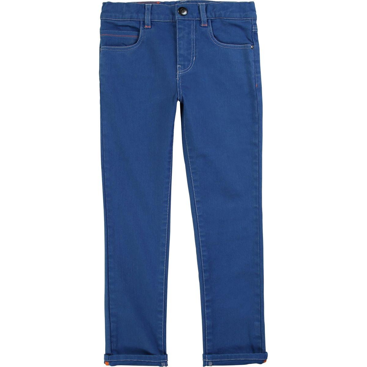 Pantalon slim twill de coton