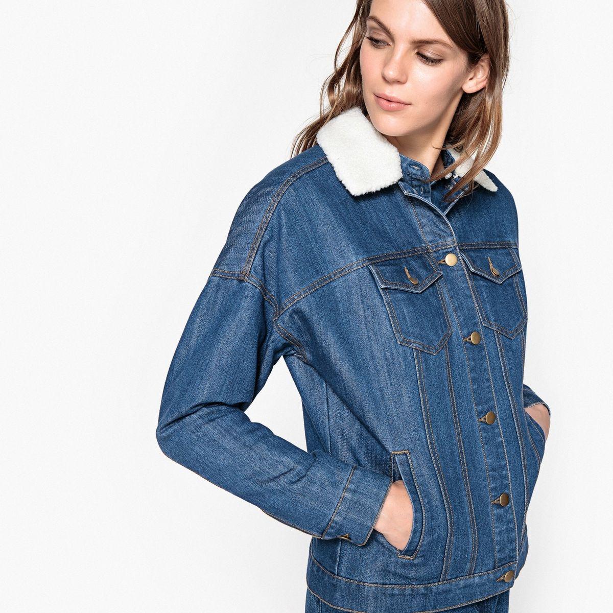Veste en jean droite
