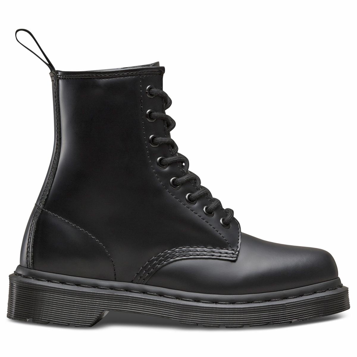 Ботинки La Redoute Кожаные на шнуровке 44 черный