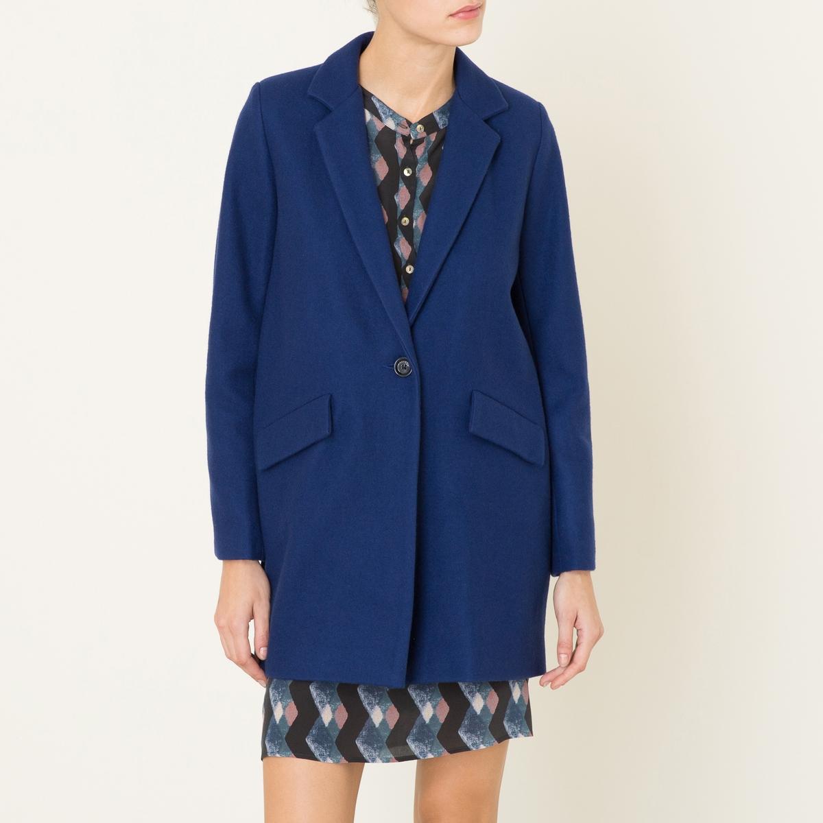 Пальто La Redoute Средней длины HELLO DOL S синий цена