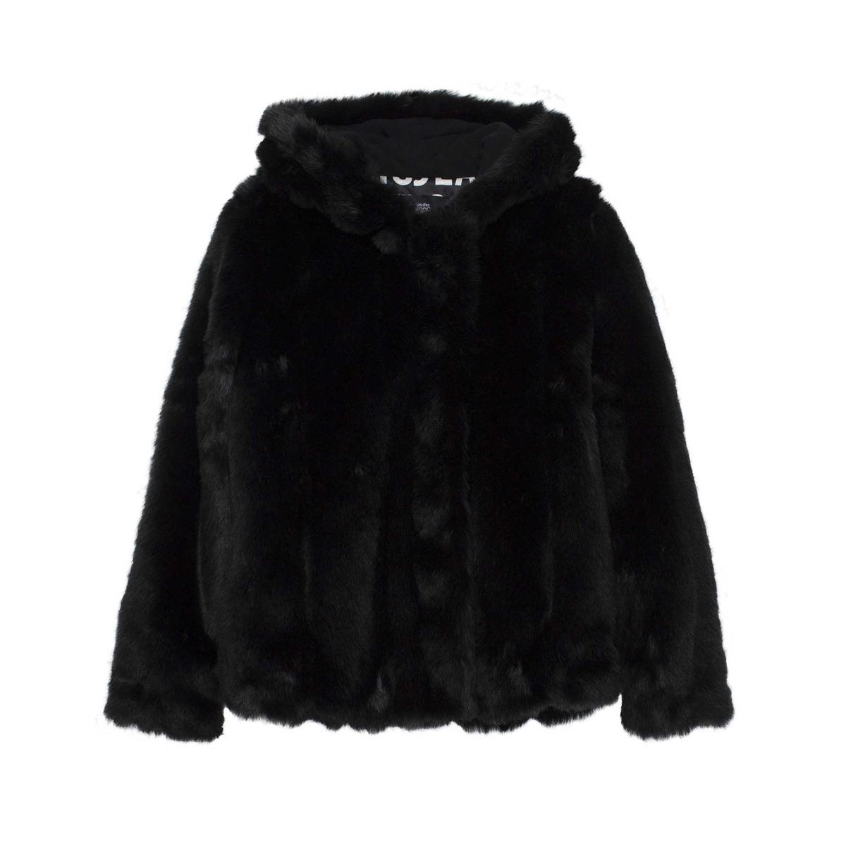 Cappotto corto effetto pelliccia