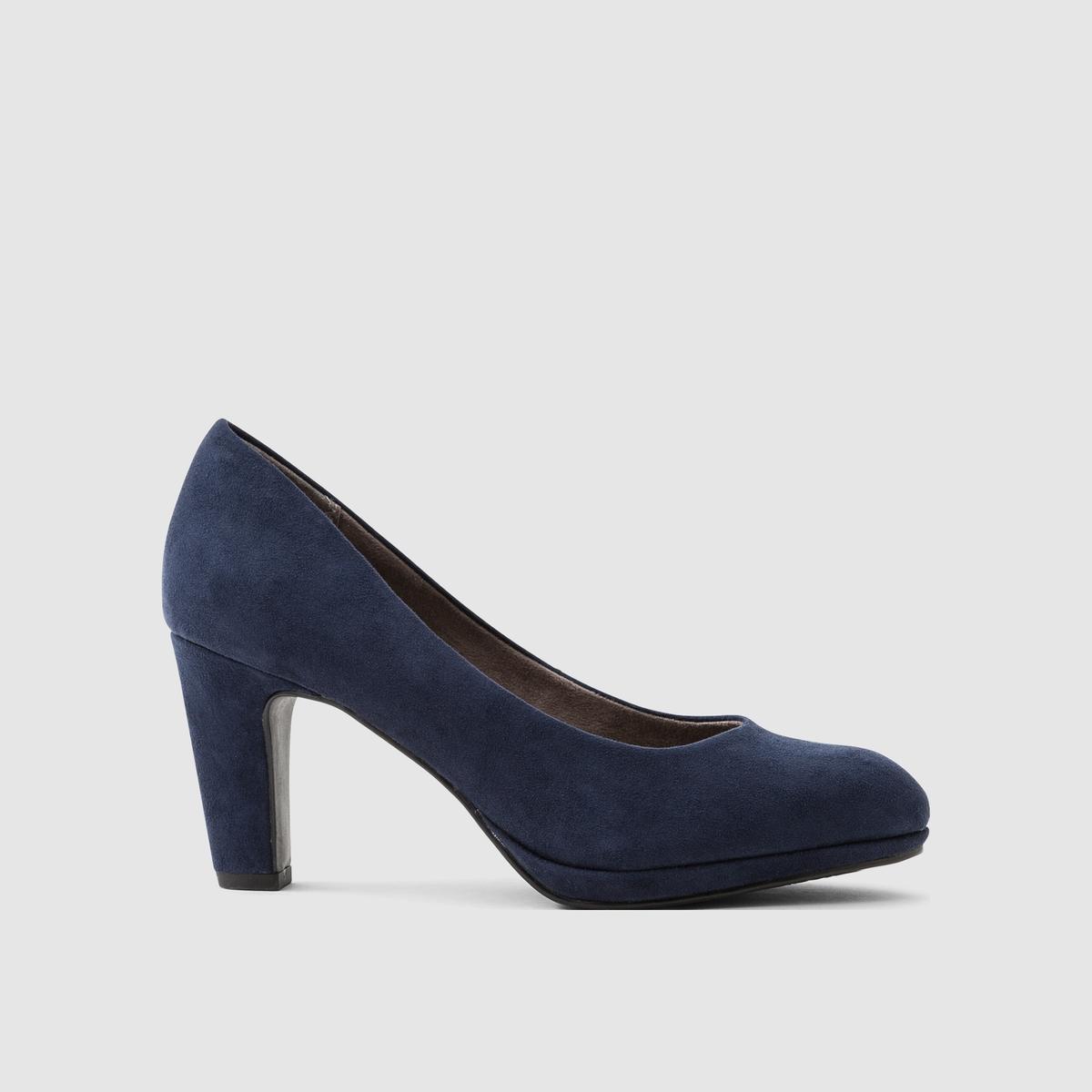 Туфли из искусственной замшиПодкладка : текстиль   Стелька : синтетика   Подошва : синтетика   Высота каблука : 8 см   Марка : TAMARIS<br><br>Цвет: синий