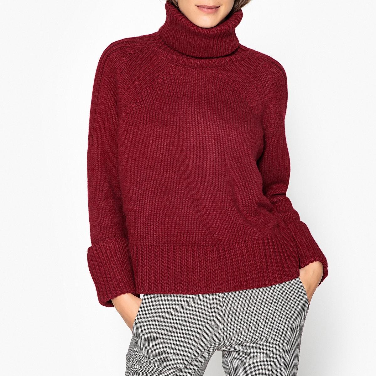 Пуловер с отворачивающимся воротником из плотного трикотажа NAGORA