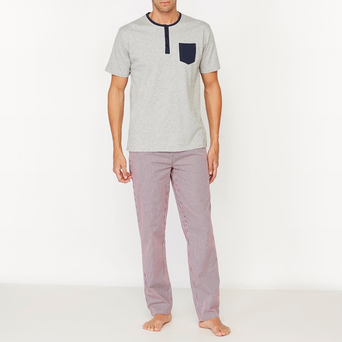 Пижама с брюками в клетку от La Redoute Collections