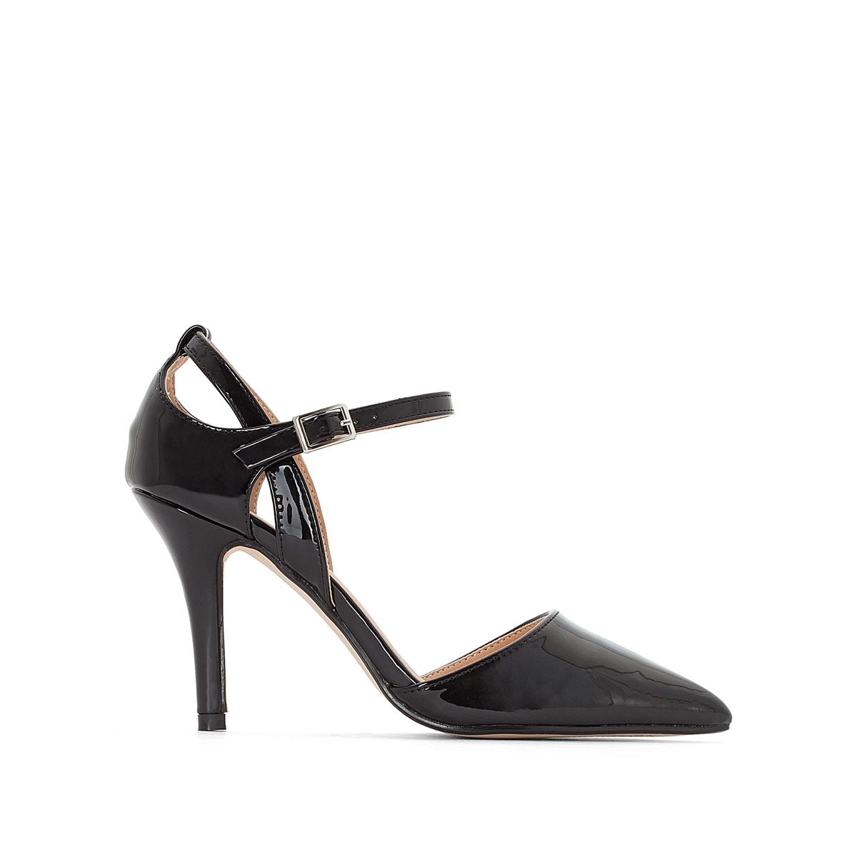 Туфли на шпильке лакированные с ремешком на лодыжке туфли la grandezza la grandezza la051awvil32