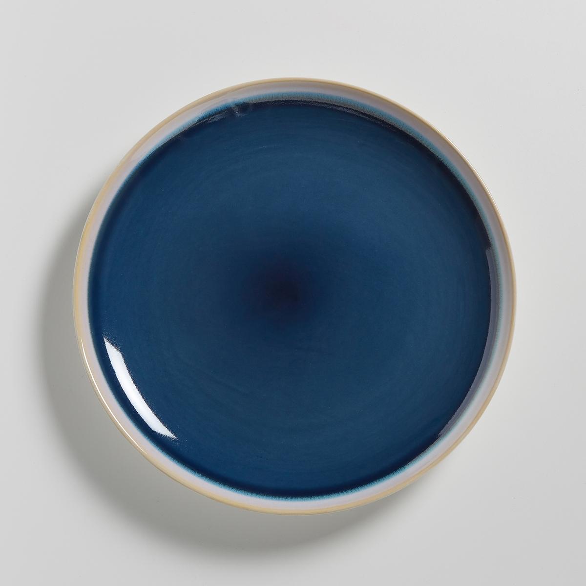 Комплет из 4 плоских тарелок из керамики, DEONIE комплект из 4 мелких тарелок из керамики olazhi