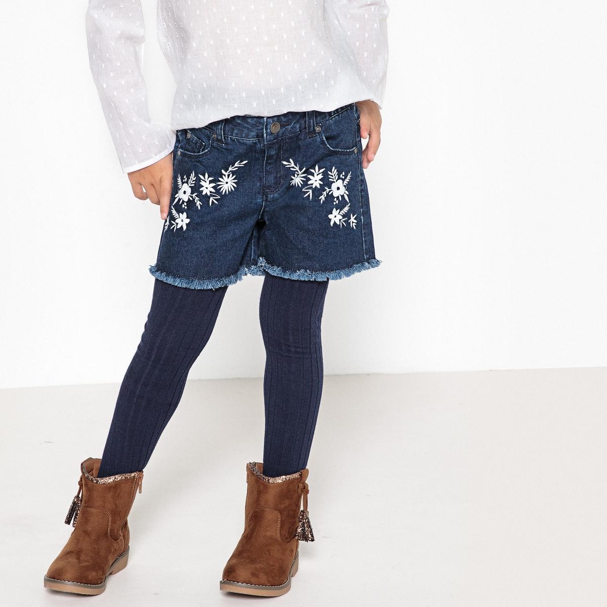 Шорты из денима с вышивкой 3-12 лет джинсы скинни с вышивкой 3 12 лет