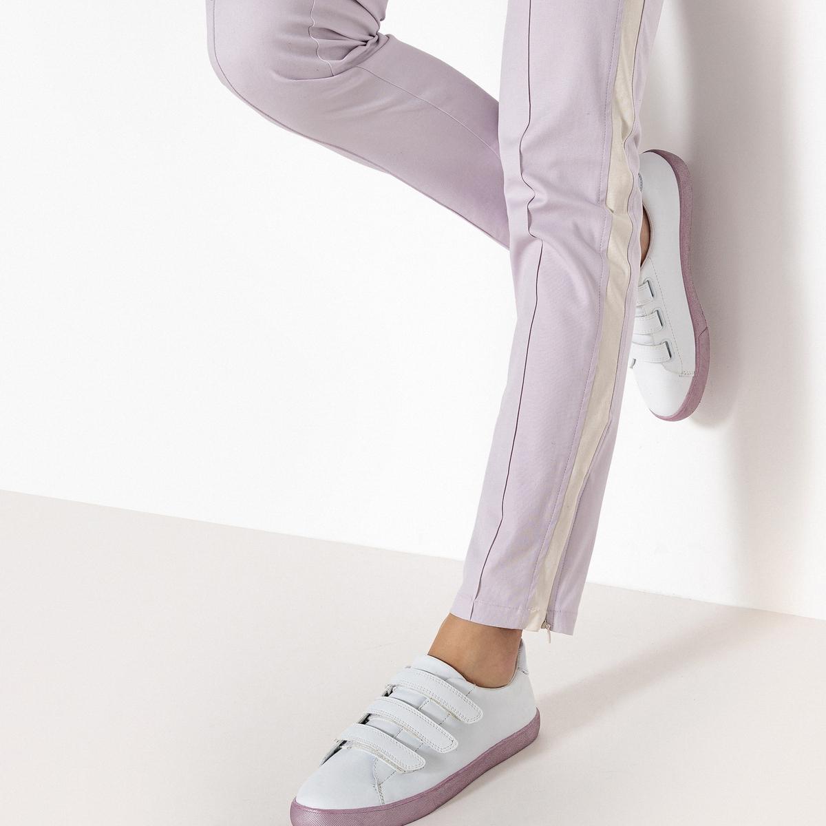 Sapatilhas com rasto metalizado lilás